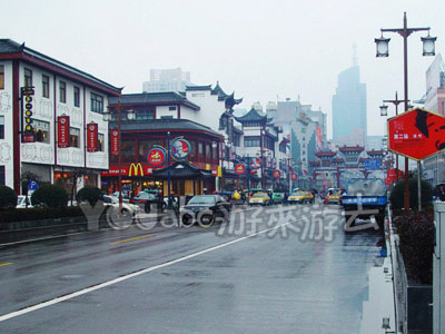 宁波市中心的县学街