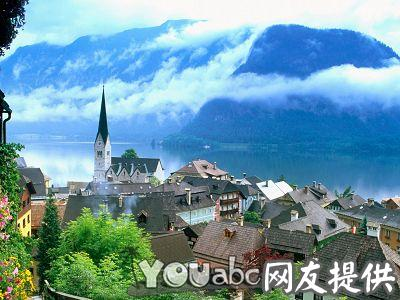 奥地利山边小镇
