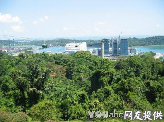可以鸟瞰新加坡港口,圣淘沙岛和新加坡南部的其他岛屿.